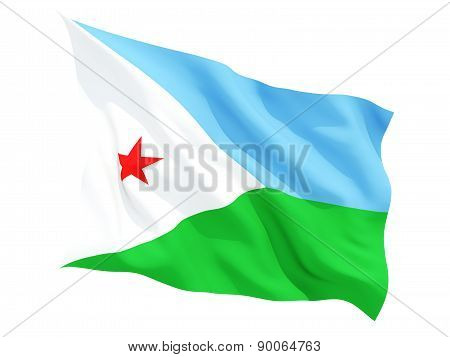 Waving Flag Of Djibouti