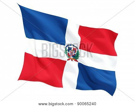 Waving Flag Of Dominican Republic