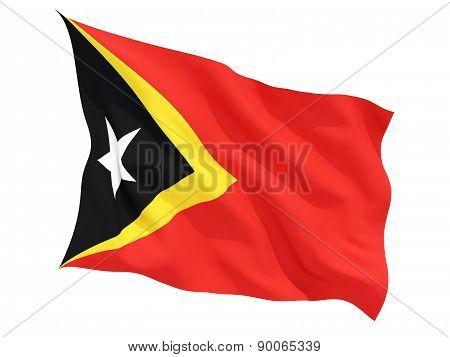 Waving Flag Of East Timor