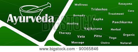 Ayurveda Green With Keywords
