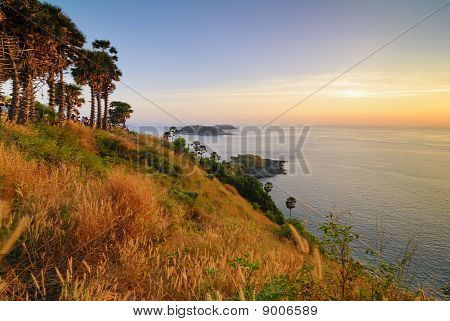 Phromthep Cape At Sunset, Phuket,thailand