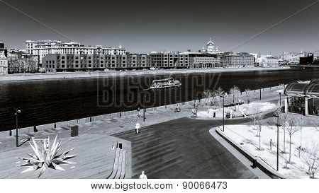 Moscow City Landscape Infrared View