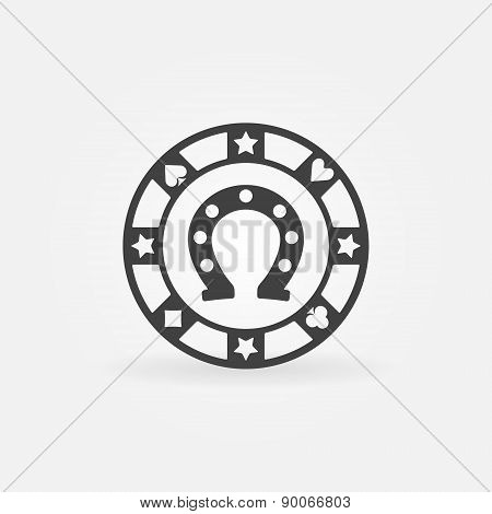 Casino or poker chip icon