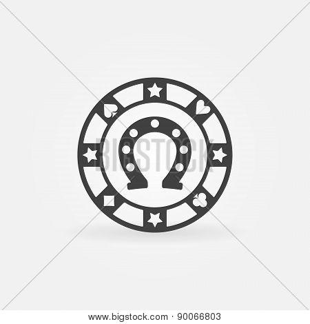 Casino or poker chip icon