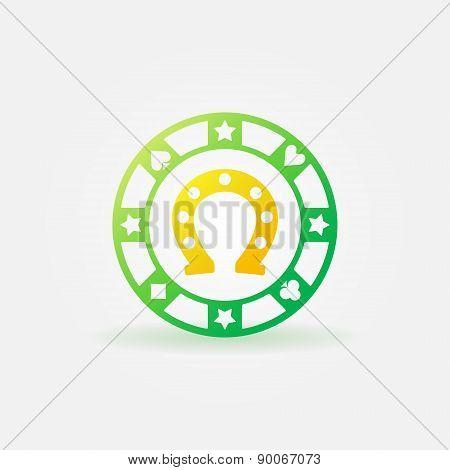 Chip icon with horseshoe