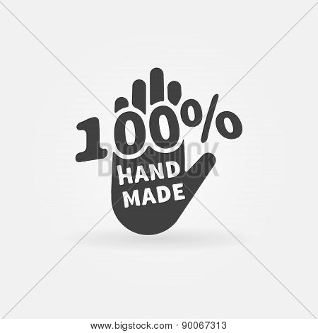 Hand made vector label or icon