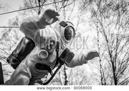 Astronaut Statue In Plastic