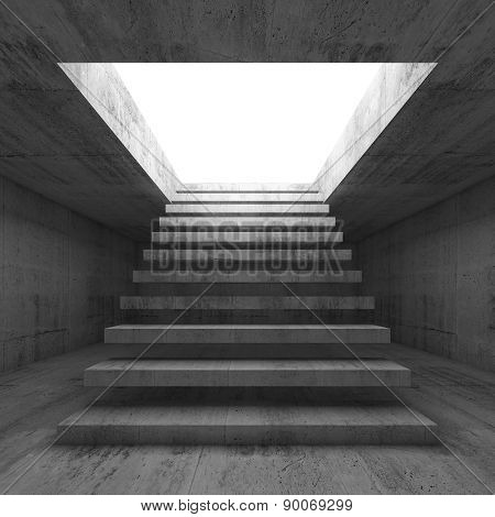 3D Illustration Interior Background With Stairway