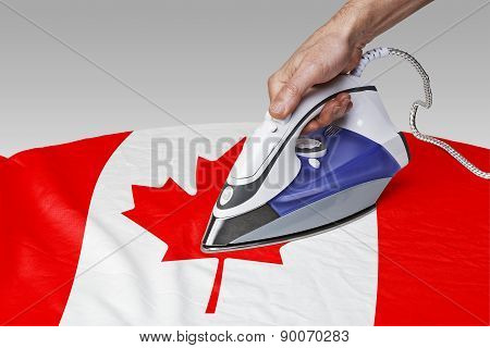 Smooth Out The Wrinkles Of Flag-canada
