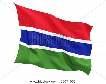 Waving Flag Of Gambia