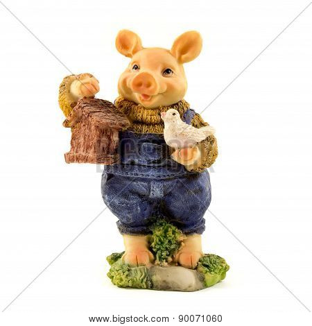 Stone Pig Figurine
