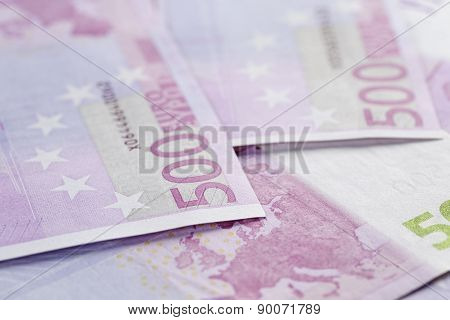 500 euro notes background closeup photo