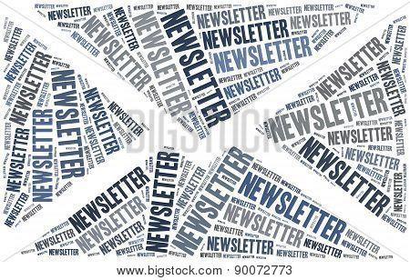 Newsletter. Word Cloud Illustration.