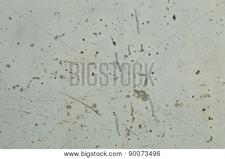 Peeling Paint On Concrete Wall