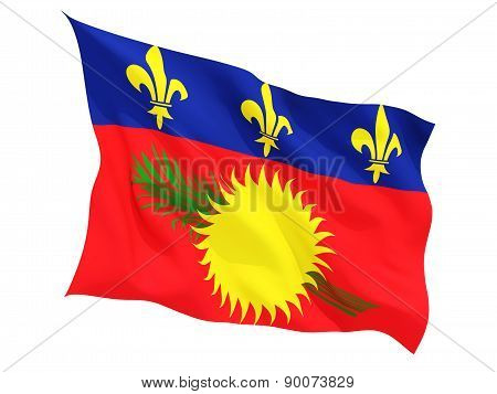 Waving Flag Of Guadeloupe