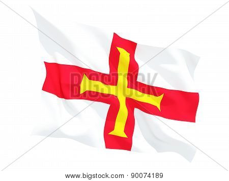 Waving Flag Of Guernsey