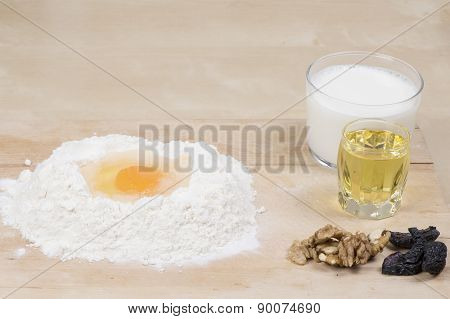 Flour milk oil