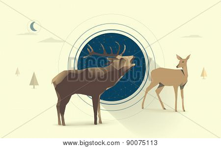 night deer love