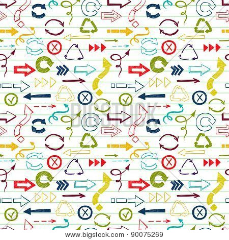 Signs And Symbols Seamless Pattern