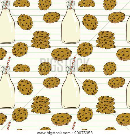 Cookies And Milk Pattern