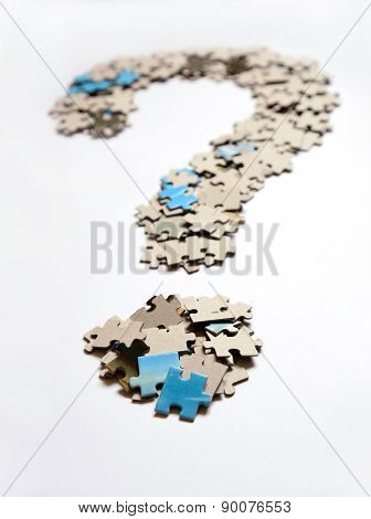 Question mark from puzzle