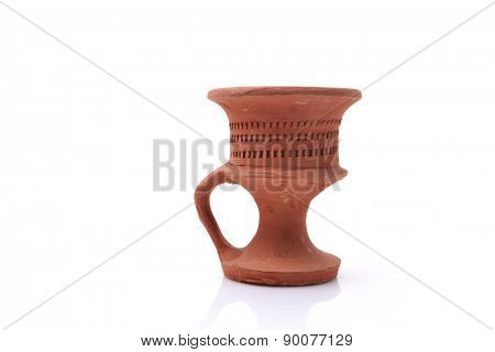 Earthen arabic oudh burner.