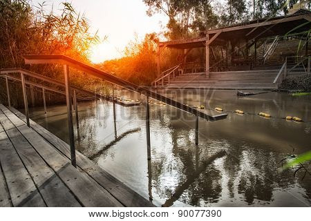 Jordan River, Site Of The Baptism Of Jesus
