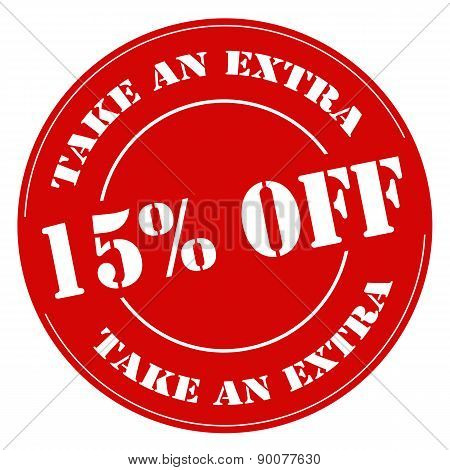 Take An Extra 15% Off-stamp