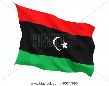 Waving Flag Of Libya