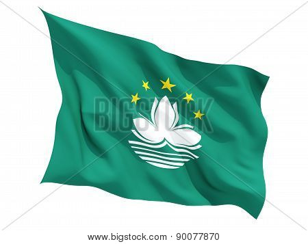 Waving Flag Of Macao