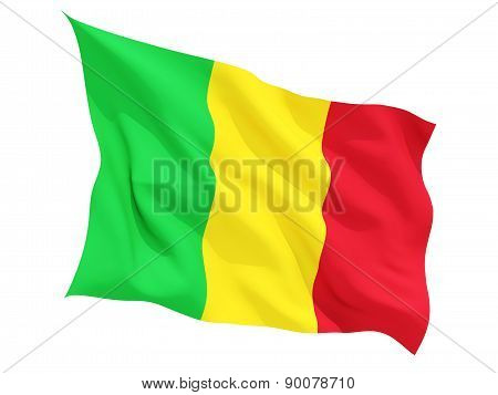 Waving Flag Of Mali
