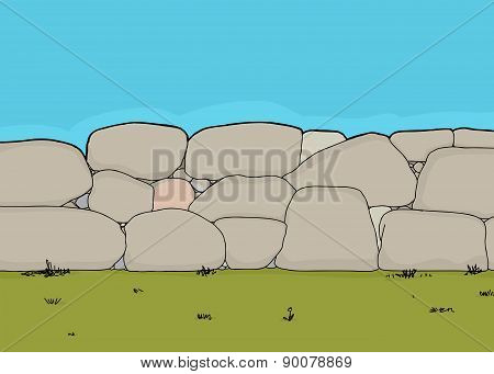 Short Stone Fence
