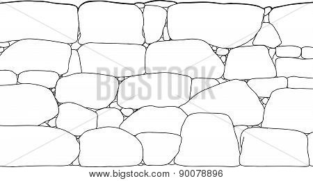 Rock Wall Outline