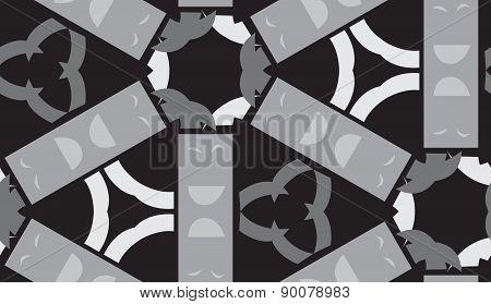 Gray Rectangular Shapes Pattern