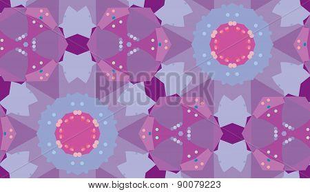 Seamless Purple Triangular Pattern