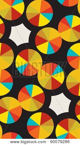 Golden Compact Disc Pattern