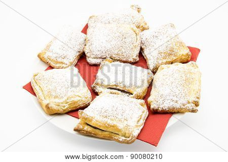 Biscuits Of Puff Pastry Stuffed With Chocolate