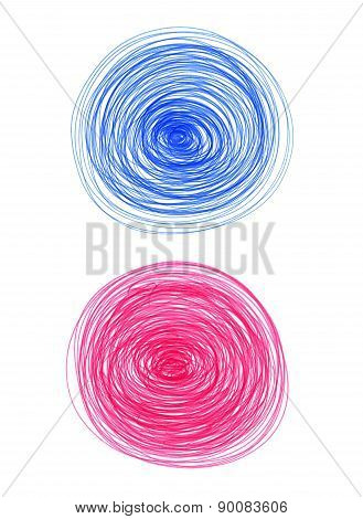 Abstract Color Round Shapes