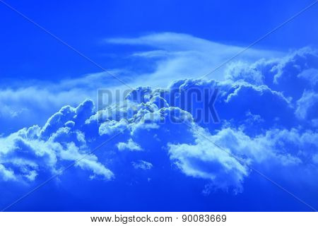 Landscape With Beautiful Blue Clouds