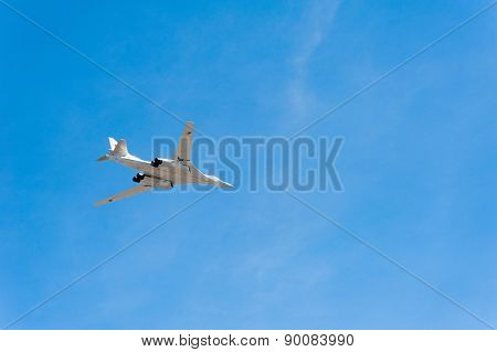 MOSCOW - MAY 7: Bomber participates at last rehearsal of the parade dedicated to the 70th anniversary of the victory in the Second World War in Red Square on May 7, 2015 in Moscow