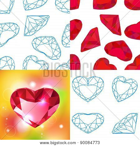 Vector fashion diamond background