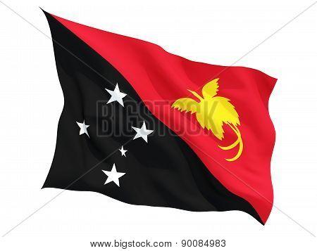 Waving Flag Of Papua New Guinea