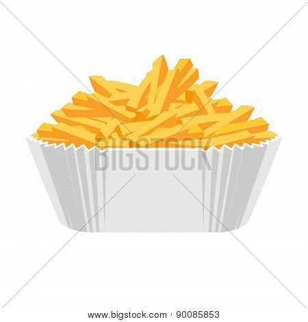 Fried potatoes icon. Flat design.