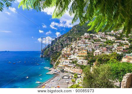 stunning landscapes of Amalfi coast, Positano. Italy