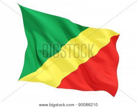 Waving Flag Of Republic Of The Congo