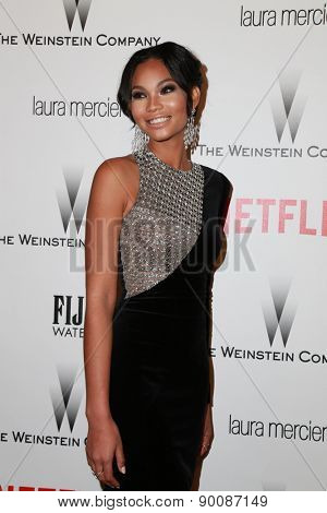 LOS ANGELES - JAN 11:  Chanel Iman at the The Weinstein Company / Netflix Golden Globes After Party at a Beverly Hilton Adjacent on January 11, 2015 in Beverly Hills, CA