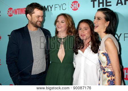 LOS ANGELES - MAY 6:  Joshua Jackson, Ruth Wilson, Maura Tierney, Julia Goldani Telles at