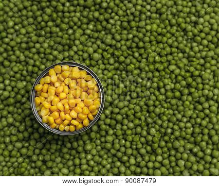 Peas Corn Background