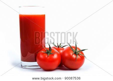 Tomato juice and tomato's.