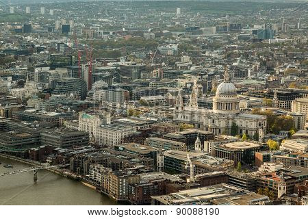 St Paul's Cathedral And The Skyline Of London